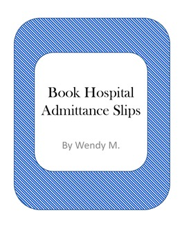 Book Hospital Admittance Slips