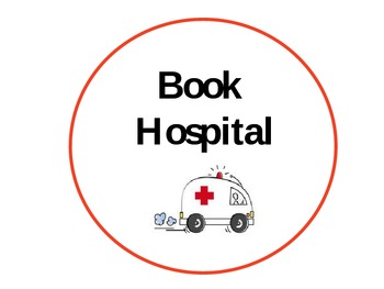 Book Hospital Label for a Book Box