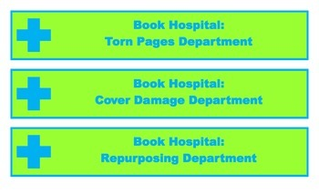 Book Hospital Shelf Labels