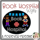 Book Hospital Sign