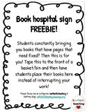 Book Hospital Sign FREEBIE!!