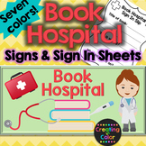 Book Hospital Signs and Sign In Sheets