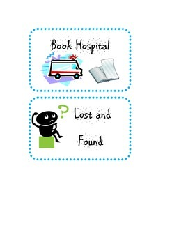 Book Hospital and Lost and Found Labels