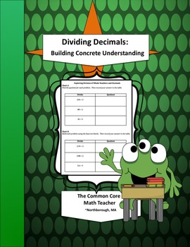 Dividing Decimals: Building Concrete Understanding