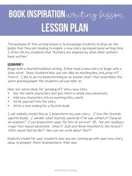 Book and Novel Inspiration Writing Lesson