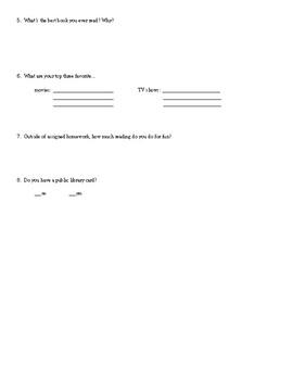 Book Interest Survey