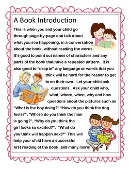 Book Introduction - For Parents To Use