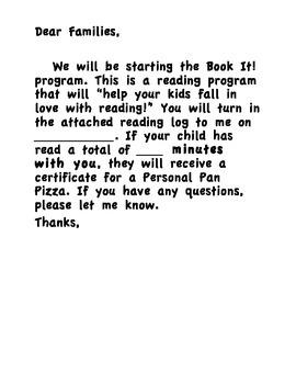 Book It Log & Info Letter
