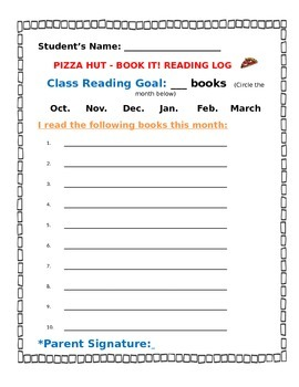 Book It Reading Form