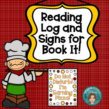 Book It Reading Log and Signs