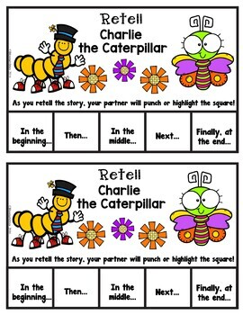Book It: Retell It, Write It, Make It! (Charlie the Caterpillar)