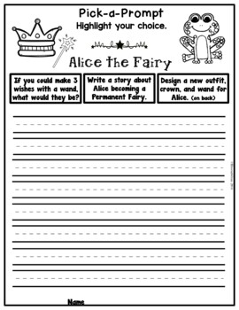 Book It: Retell It, Write It, Make It! (Alice the Fairy)