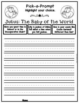 Book It: Retell It, Write It, Make It! (Julius Baby of the World)