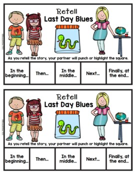 Book It: Retell It, Write It, Make It! (Last Day Blues)