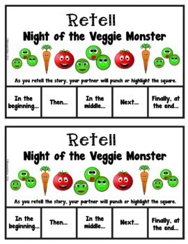 Book It: Retell It, Write It, Make It! (Night of the Veggie Monster)
