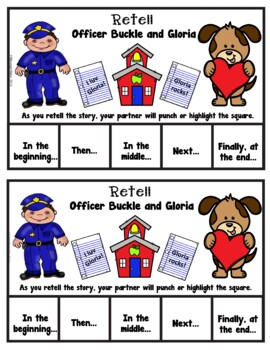 Book It: Retell It, Write It, Make It! (Officer Buckle and Gloria)