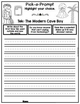 Book It: Retell It, Write It, Make It! (TEK: The Modern Cave Boy FREEBIE!)