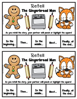 Book It: Retell It, Write It, Make It! Packet (The Gingerbread Man)