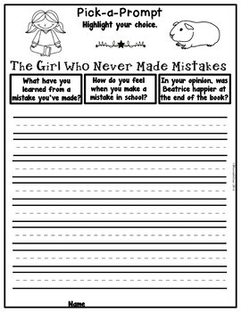 Book It: Retell It, Write It, Make It! (The Girl Who Never Made Mistakes)