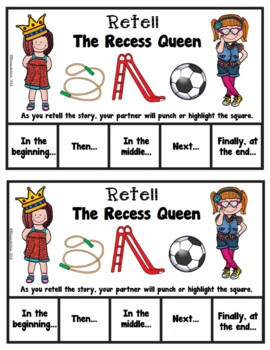 Book It: Retell It, Write It, Make It! (The Recess Queen)