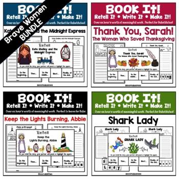 https://www.teacherspayteachers.com/Product/Book-It-Retell-It-Write-It-Make-It-Three-Brave-Women-4436281