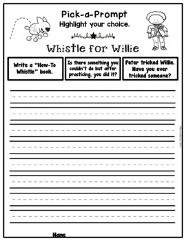 Book It: Retell It, Write It, Make It (Whistle for Willie)