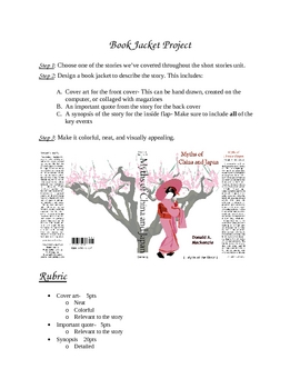 Book Jacket Assignment
