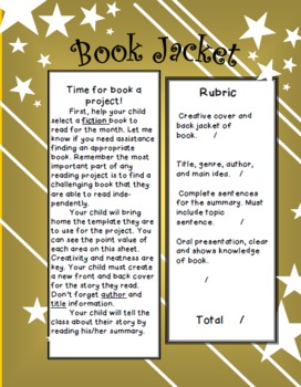 Book Jacket Book Report (project editable)