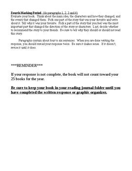Book Journal Guidelines - With G.O's