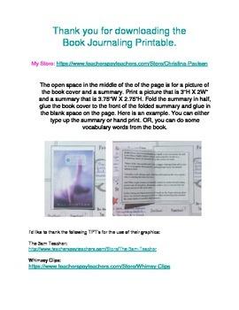 Book Journaling Printable