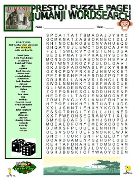 Book - Jumanji Puzzles (Wordsearch and Criss-Cross)