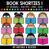 Book Kid Shorties Clipart