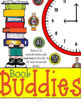 Book Kids Clock Labels: For Your Book Themed Classroom or Library Decor!