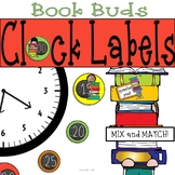 Book Kids Clock Labels: For Your Book Themed Classroom or