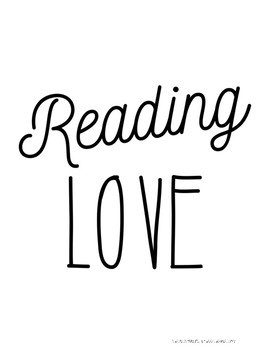 Reading LOVE Poster SET Sample FREEBIE!