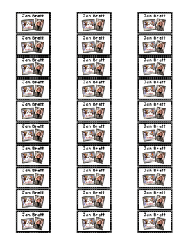 Book Label Sticker Sheets for Class Library preK-2