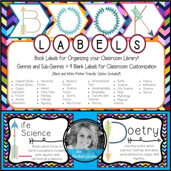 Classroom Library Book Tub Labels