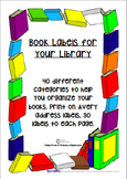Book Labels- 40 Categories