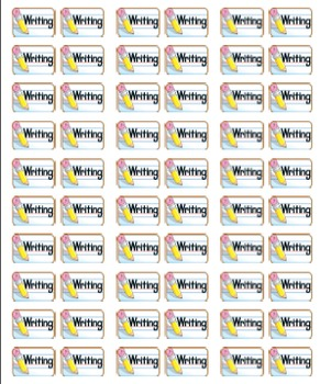 Book Labels- 40 Categories