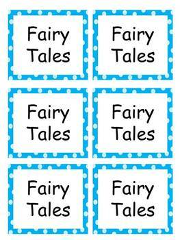 Book Labels with blue polka dots EDITABLE