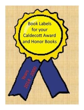 Book Labels - Caldecott Winner and Honor Books