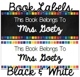 Book Labels (Editable)