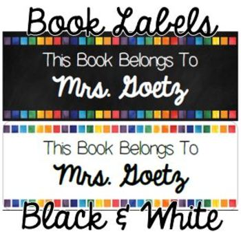 Book Labels (Editable)