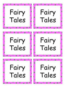 Book Labels with pink polka dots EDITABLE
