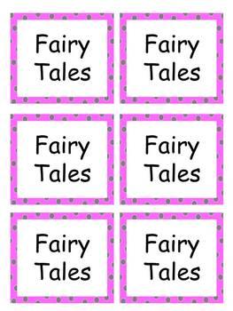 Book Labels-Pink Polka Dots