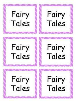 Book Labels with purple wavy border EDITABLE