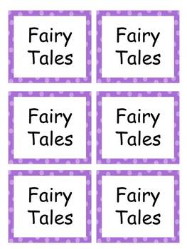 Book Labels with purple polka dots EDITABLE