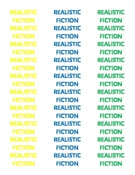 Book Labels by Genre -- Color Coded!