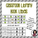 Book Labels for Classroom Library-Black & White