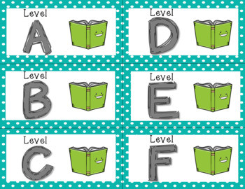 Book Labels for Classroom Library-Blue Polka Dot